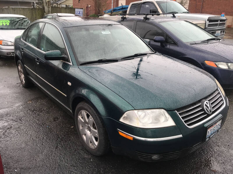 2001 Volkswagen Passat for sale at American Dream Motors in Everett WA
