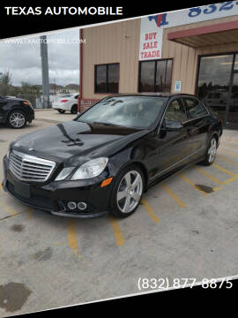 2010 Mercedes-Benz E-Class for sale at TEXAS AUTOMOBILE in Houston TX
