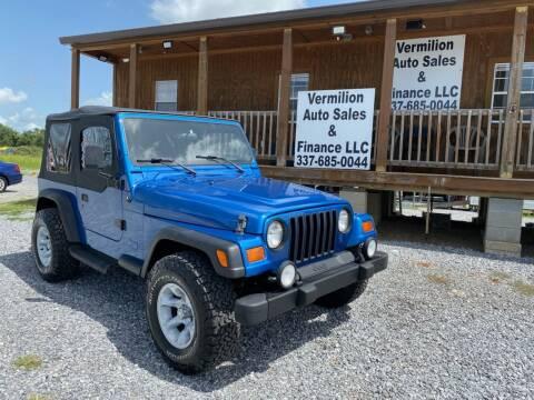 1999 Jeep Wrangler for sale at Vermilion Auto Sales & Finance in Erath LA
