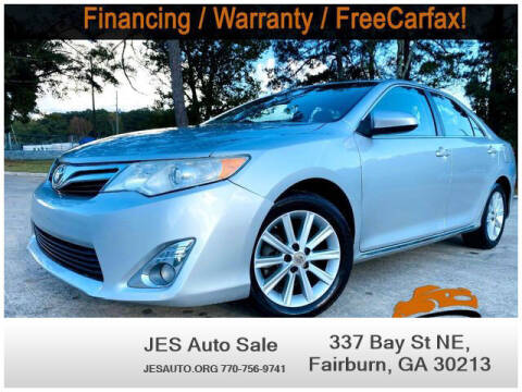 2012 Toyota Camry for sale at JES Auto Sales LLC in Fairburn GA