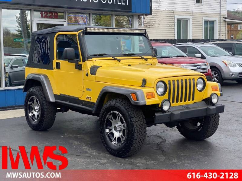 2004 Jeep Wrangler for sale at MWS Wholesale  Auto Outlet in Grand Rapids MI