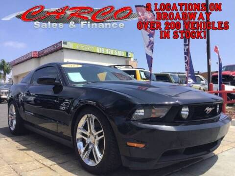 2012 Ford Mustang for sale at CARCO SALES & FINANCE in Chula Vista CA
