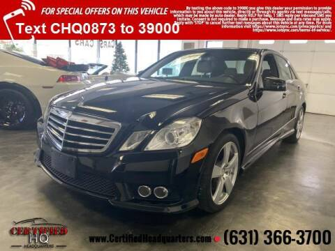 2010 Mercedes-Benz E-Class for sale at CERTIFIED HEADQUARTERS in St James NY