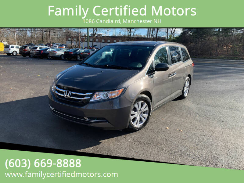 2016 Honda Odyssey for sale at Family Certified Motors in Manchester NH