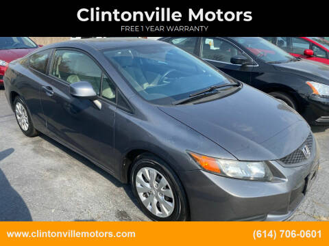 2012 Honda Civic for sale at Clintonville Motors in Columbus OH
