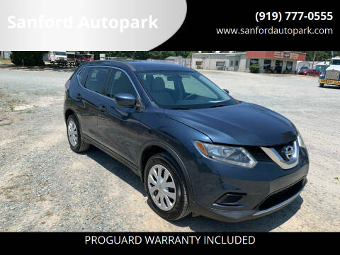 2016 Nissan Rogue for sale at Sanford Autopark in Sanford NC