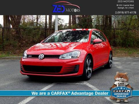 2015 Volkswagen Golf GTI for sale at Zed Motors in Raleigh NC