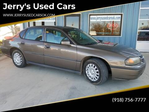 2002 Chevrolet Impala for sale at Jerry's Used Cars in Okmulgee OK
