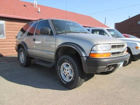 2000 Chevrolet Blazer for sale at SCHULTZ MOTORS in Fairmont MN