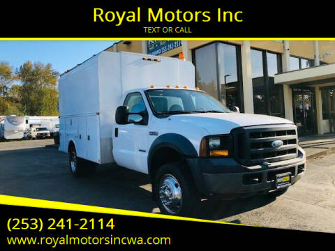 2006 Ford F-550 Super Duty for sale at Royal Motors Inc in Kent WA