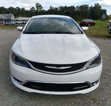 2015 Chrysler 200 for sale at Premier Auto Solutions & Sales in Quinton VA