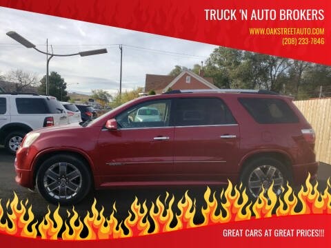 2012 GMC Acadia for sale at Truck 'N Auto Brokers in Pocatello ID