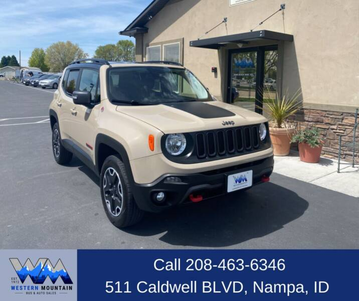 2016 Jeep Renegade for sale at Western Mountain Bus & Auto Sales in Nampa ID
