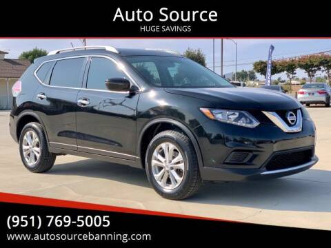 2016 Nissan Rogue for sale at Auto Source in Banning CA