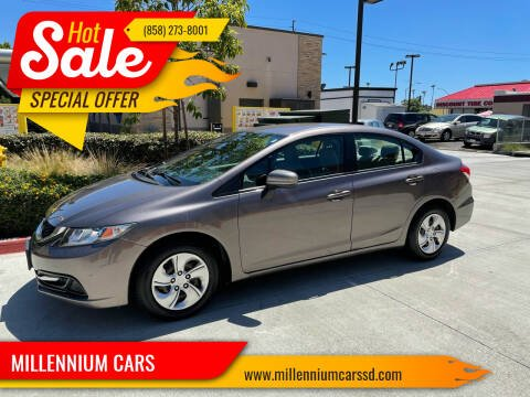 2015 Honda Civic for sale at MILLENNIUM CARS in San Diego CA
