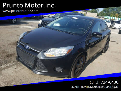 2014 Ford Focus for sale at Prunto Motor Inc. in Dearborn MI