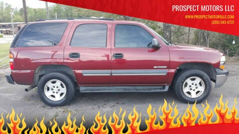 2003 Chevrolet Tahoe for sale at Prospect Motors LLC in Adamsville AL