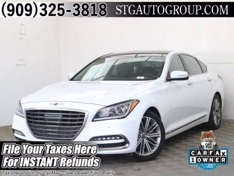 2018 Genesis G80 for sale at STG Auto Group in Montclair CA