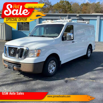 2015 Nissan NV Cargo for sale at GSM Auto Sales in Linden NJ