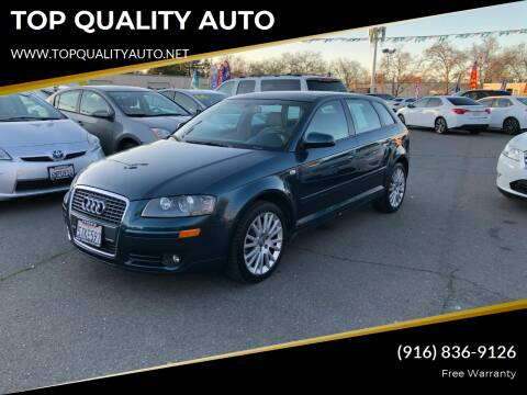 2006 Audi A3 for sale at TOP QUALITY AUTO in Rancho Cordova CA