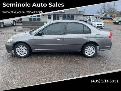 2005 Honda Civic for sale at Seminole Auto Sales in Seminole OK