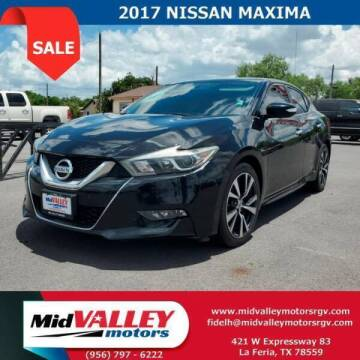 2017 Nissan Maxima for sale at Mid Valley Motors in La Feria TX