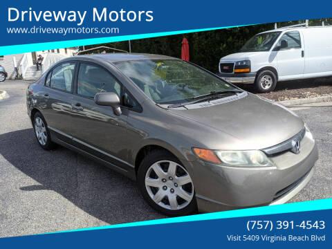 2008 Honda Civic for sale at Driveway Motors in Virginia Beach VA
