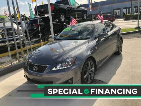 2012 Lexus IS 250 for sale at Navarro Auto Motors in Hialeah FL