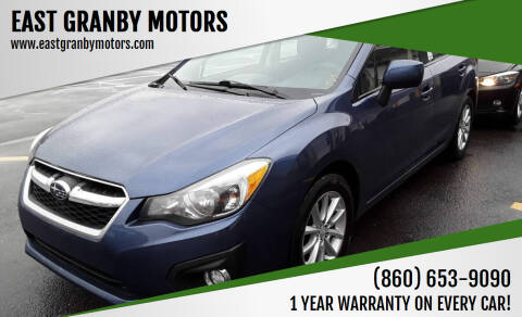 2012 Subaru Impreza for sale at EAST GRANBY MOTORS in East Granby CT