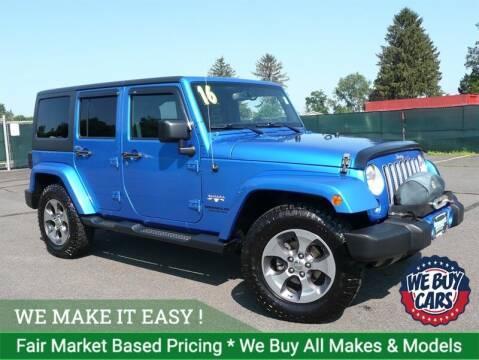 2016 Jeep Wrangler Unlimited for sale at Shamrock Motors in East Windsor CT
