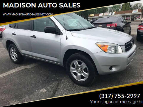 2008 Toyota RAV4 for sale at MADISON AUTO SALES in Indianapolis IN