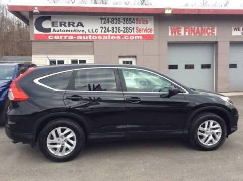 2015 Honda CR-V for sale at Cerra Automotive LLC in Greensburg PA