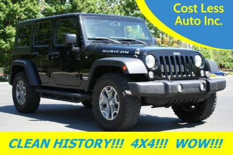 2014 Jeep Wrangler Unlimited for sale at Cost Less Auto Inc. in Rocklin CA