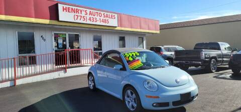 2006 Volkswagen New Beetle Convertible for sale at Henry's Autosales, LLC in Reno NV
