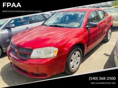 2008 Dodge Avenger for sale at FPAA in Fredericksburg VA