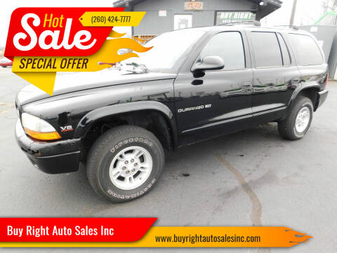 2000 Dodge Durango for sale at Buy Right Auto Sales Inc in Fort Wayne IN