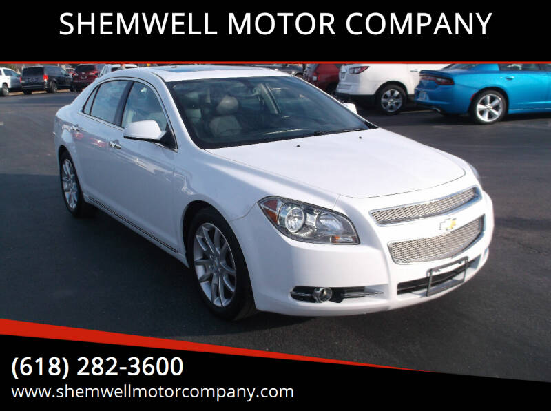 2012 Chevrolet Malibu for sale at SHEMWELL MOTOR COMPANY in Red Bud IL
