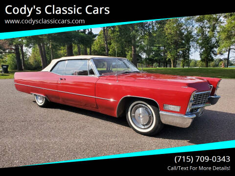 1967 Cadillac DeVille for sale at Cody's Classic Cars in Stanley WI