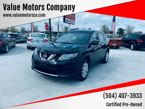 2015 Nissan Rogue for sale at Value Motors Company in Marrero LA