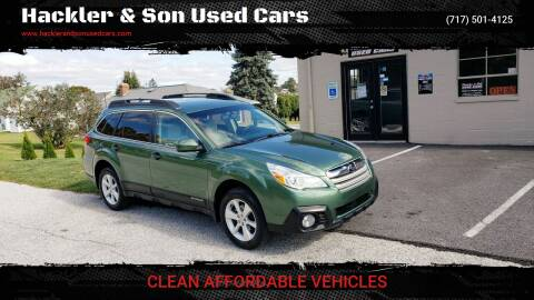 2014 Subaru Outback for sale at Hackler & Son Used Cars in Red Lion PA
