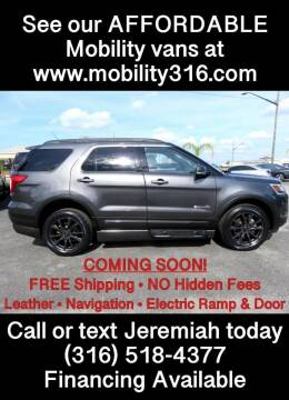 2018 Ford Explorer for sale at Affordable Mobility Solutions, LLC - Mobility/Wheelchair Accessible Inventory-Wichita in Wichita KS