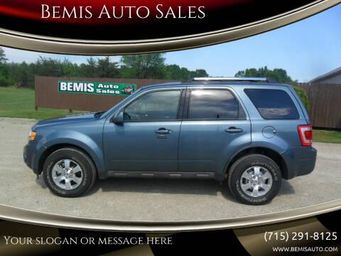 2011 Ford Escape for sale at Bemis Auto Sales in Crivitz WI