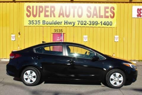 2017 Kia Forte for sale at Super Auto Sales in Las Vegas NV