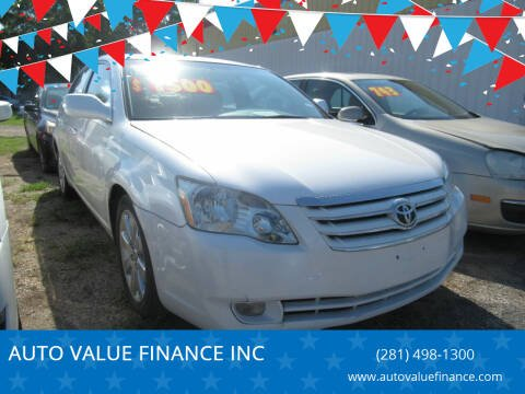 2005 Toyota Avalon for sale at AUTO VALUE FINANCE INC in Stafford TX
