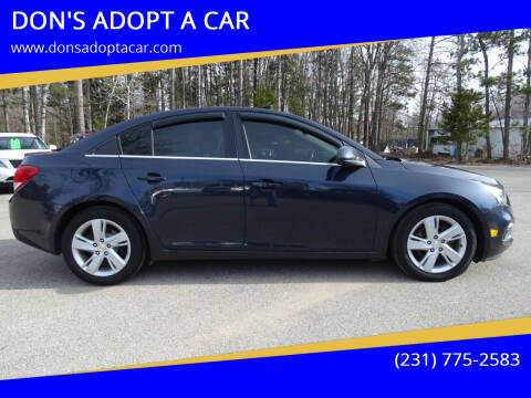 2015 Chevrolet Cruze for sale at DON'S ADOPT A CAR in Cadillac MI