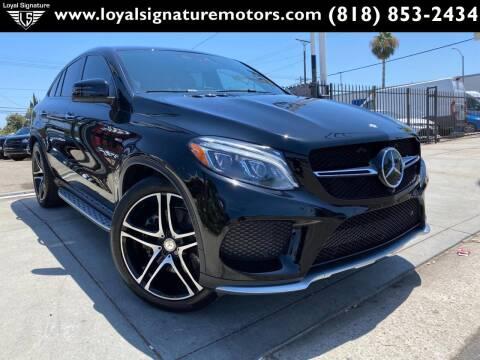 2016 Mercedes-Benz GLE for sale at Loyal Signature Motors Inc. in Van Nuys CA