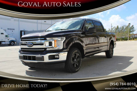 2018 Ford F-150 for sale at Goval Auto Sales in Pompano Beach FL