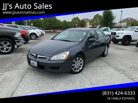 2007 Honda Accord for sale at JJ's Auto Sales in Salinas CA