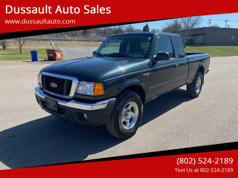 2004 Ford Ranger for sale at Dussault Auto Sales in Saint Albans VT