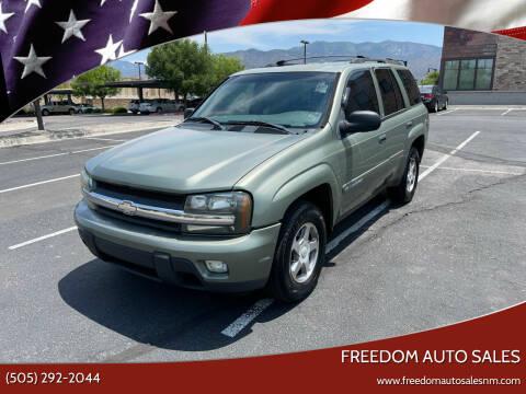 2003 Chevrolet TrailBlazer for sale at Freedom Auto Sales in Albuquerque NM